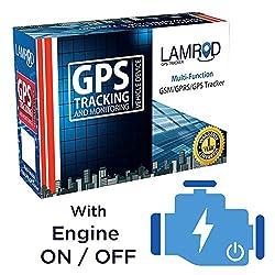 LAMROD Supreme PRO Car/Bike GPS Tracker with Engine ON/Off Function and 1 Year Sim Data,LAMROD