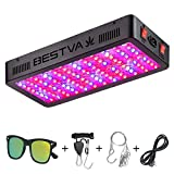 BESTVA DC Series 1200W LED Grow Light Full Spectrum Dual-Chip Growing Lamp for Hydroponic Indoor Plants Veg and Flower