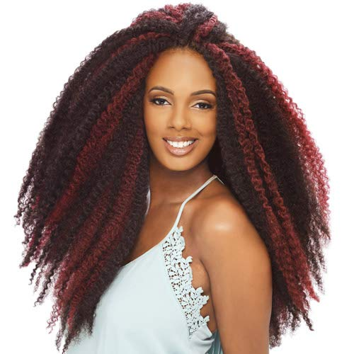 Janet Collection Afro Twist Braid Color 1B (6 Packs)