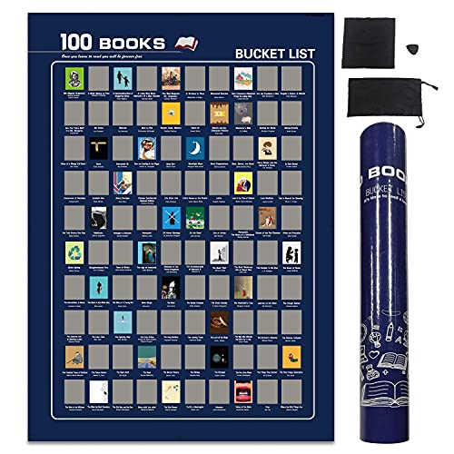 Top 100 Books Scratch Off Poster-Book Bucket List (16.5' x 23.4')
