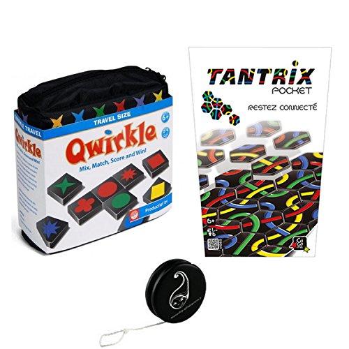 Gigamic et iello - Juego de 2 juegos de viaje (Qwirkle + Tantrix Pocket + 1 Yoyo Blumie)