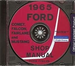 1965 FORD FACTORY REPAIR SHOP & SERVICE MANUAL CD INCLUDES Ford Falcon, Futura, Fairlane, Mustang, Ranchero, and wagons
