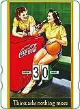 Calendario perpetuo Coca-Cola: publicidad Vintage Thirst asks Nothing More