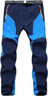 LaoZan Unisex Sport Thermo Fleece Syntetyczne spodnie softshellowe Outdoor wodoszczelne spodnie trekkingowe wiatroszczelne...