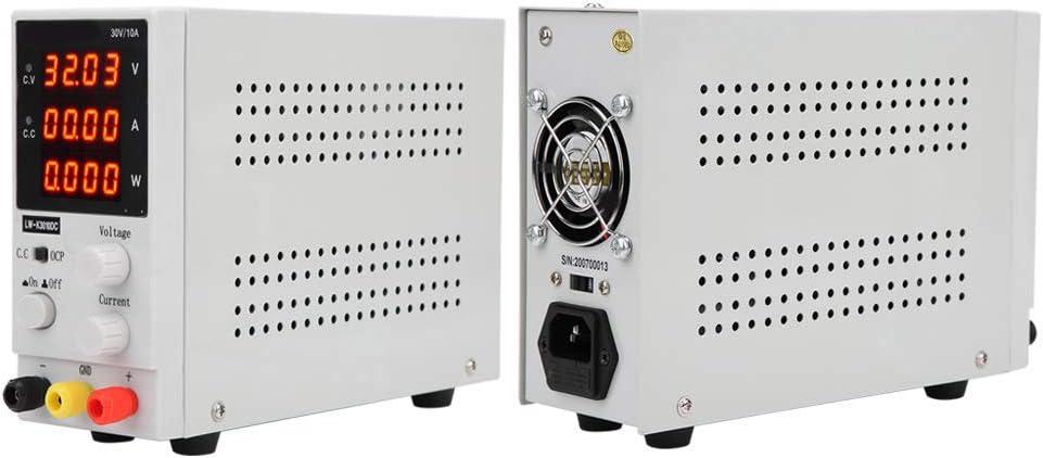 LED-Anzeige mit 4 Ziffern umschaltbar verstellbar Schutz gegen /Überladung und Kurzschluss 110//220 V 220 V EU stabilisiertes Netzteil zum Zuschneiden Labornetzger/ät
