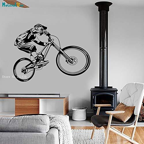Mountain Bike Extreme Sports Wall Vinyl Decal Biking BMX Bicycle Motocross Modern Garage Home Decor Removable Murals YT 75x56cm