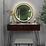 【3-Color Intelligent Dimming Mirror】: The premium LED lamp around the mirror can be switched to natural light, warm light, and cold light. You can choose different light according to different scenes and different makeup. 【Touch Screen Operation】By t...