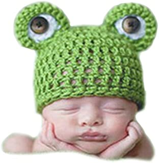 Cute Baby Newborn Winter Frog Hat Costume Crochet Knitted Photography Props