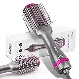 Secador de pelo cepillo de aire caliente, multifunción, chignon cepillo de estilismo para mujeres, peine de aire caliente , cepillo reduce el encrespamiento y la electricidad estática