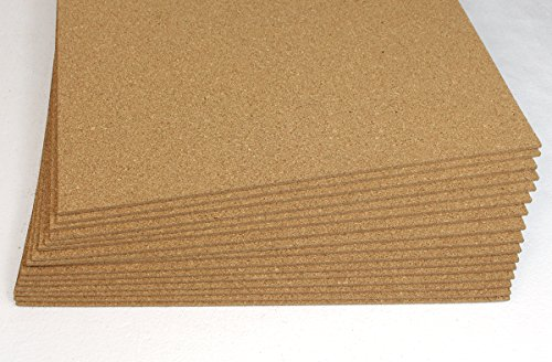Forna 1/4' (6mm) Cork Underlayment, Size: 2'x3', 25 Sheets per Box 150 SF for Acoustic, Reduce...