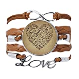 DIYthinker - Pulsera con texto en inglés 'Textura de papel, notas musicales, pulsera de amor, cadena de cuerda, adorno de regalo