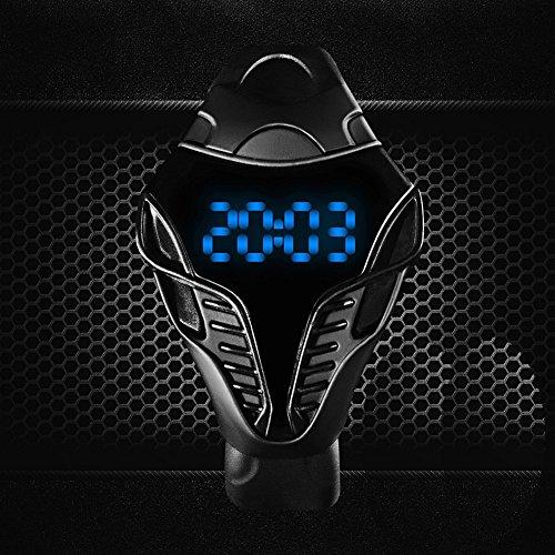 CursOnline Elegante Orologio Uomo Ragazzo Iron Man Design con Cinturino in Silicone Morbidissimo Nuovo Modello Led Blu Watch Sport mod.491-15