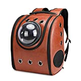 Astronaut Capsule Breathable Pet Cat Puppy Travel Bag Space Backpack Carrier Bags,brown