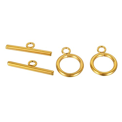 10 sets Gold Toggle Clasp Set Stainless steel making Jewelry findings Hook DIY