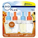 Febreze Plug in Air Freshener and Odor Eliminator, Scented Oil Refill, Hawaiian Aloha, 2 Count
