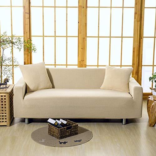 HXTSWGS Fundas Cojines de Sofa,Funda de sofá 1/2/3/4 Asiento, Funda Protectora de sofá de Color sólido, Funda de sofá elástica de Tela elástica-Color5_235-300cm