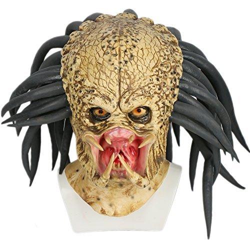 Xcoser Cosplay Kostüm Maske Deluxe Latex 1:1 Replik Helm Jungle Hunter Verrücktes Kleid Merchandise für Erwachsene Halloween