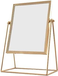 Asdfnfa Makeup Mirror Simple Portable Beauty Vanity Mirror Ultra-high-Definition Rust Desktop Cosmetic Mirror