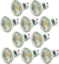 SGJFZD Dimmable GU10 LED Bulbs 50W Halogen Equivalent, 5W 400-450Lumens, AC200-240V for Art Galleries, Museums, Home, Hote...
