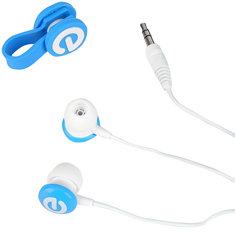 Tabeo Earbuds and Cable Tie - Blue