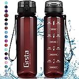 Grsta Botella Agua - Botella de Agua Deportes 500ml Botella Deportiva Tritan de Plástico ...