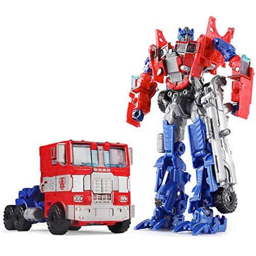 19cm Transformation Car Robot Toys Bumblebee Optimus Prime Megatron Decepticons Jazz Collection Action Figure Gift for Kids, Deformation Car Robot, Car Transform Robot (Style B)