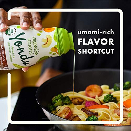 Yondu Vegetable Umami – 150 ml – Condimento 100% de umami vegetal & natural – Ideal en todos tus platos, realza sabores de forma natural y ayuda a reducir el consumo de sal