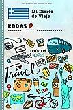 Rodas Diario de Viaje: Libro de Registro de Viajes Guiado Infantil - Cuaderno de Recuerdos de Actividades en Vacaciones para Escribir, Dibujar, Afirmaciones de Gratitud para Niños y Niñas