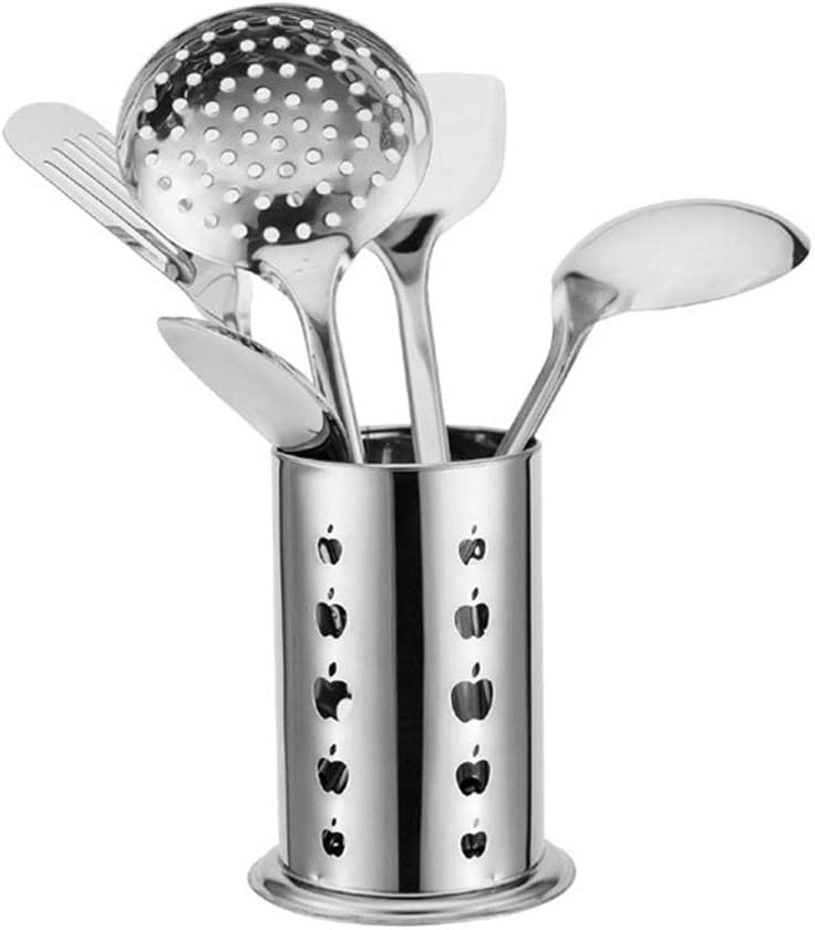 6-piece Bombing free shipping Stainless Steel Max 81% OFF Cutlery Kitchen Kitch Full Spoon Spatula