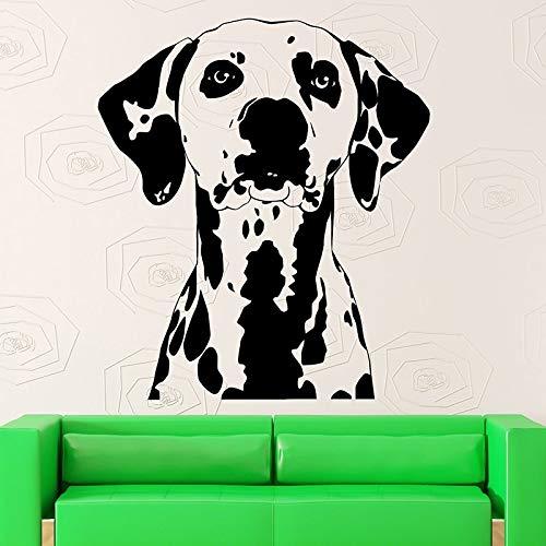 zqyjhkou Haustiere Hund Wandtattoos Tier Haustier Dalmatiner Wandaufkleber Für Schlafzimmer Abnehmbare Kunstwandhauptdekoration Tapete73,5x85,75 cm