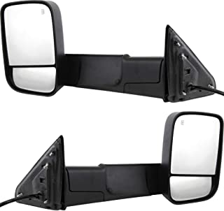 Tow Mirror Set For 2013 2018 Ram 1500 Driver & Passenger Side Power Heat Signal