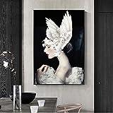 ganlanshu Quadro su Tela Senza Cornice Colomba Bianca Artista su Tela decorazione Della parete di casa Poster e stampe su Tela 40X72 cm