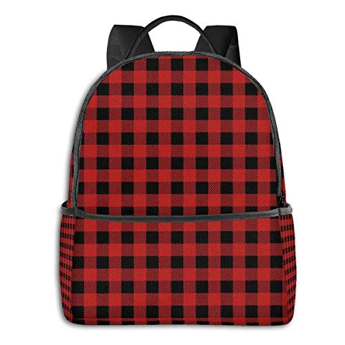 zhengdong Bla Bag Rustikal Rot Bla Che Plaid Muster Rusa Sa Laptop Reiseschule Gym Bapa für Studenten Herren Damen