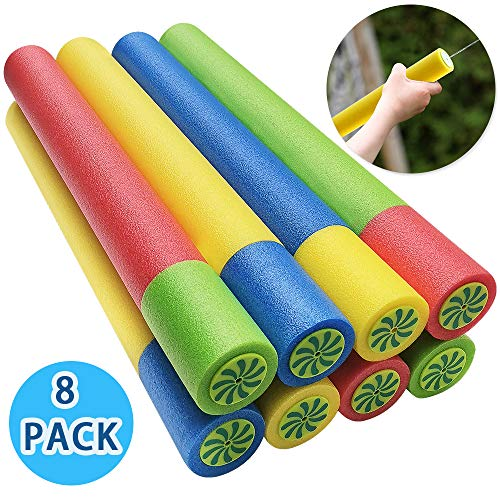 ToyerBee Water Gun for Kids 8 Pack Super Foam Soaker ToysShoots Up to 35 Ft Water Blaster Squirt Water Cannon for 4567 Year Old Boysamp Girlsamp Adults Summer Pool amp Water Kids Toys