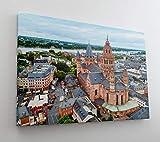 DesFoli Mainz Deutschland Skyline Stadt Leinwand