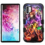 for Galaxy Note 10 Plus, Hard+Rubber Dual Layer Hybrid Shockproof Rugged Impact Cover Case - Avengers Endgame #ZM