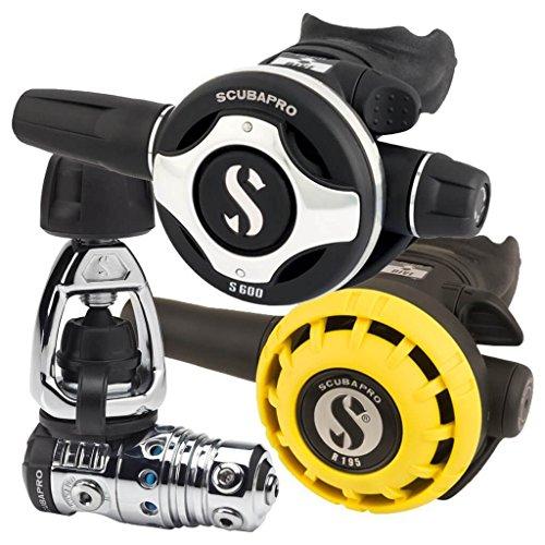 Scubapro - Regulador mk25 evo/s600/r195 octopues int232, Color metálico/Negro