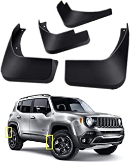 Mud Flaps Kit for Jeep Renegade 2015-2020 Mud Splash Guard Front and Rear 4-PC Set by TOPGRIL