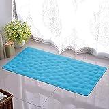 Anti-Rutsch-Badewanne Matte weiche Gummi Badezimmer Bathmat mit starken Saugnäpfen, gelten für Kinder und Erwachsene der tägliche Gebrauch,Blau