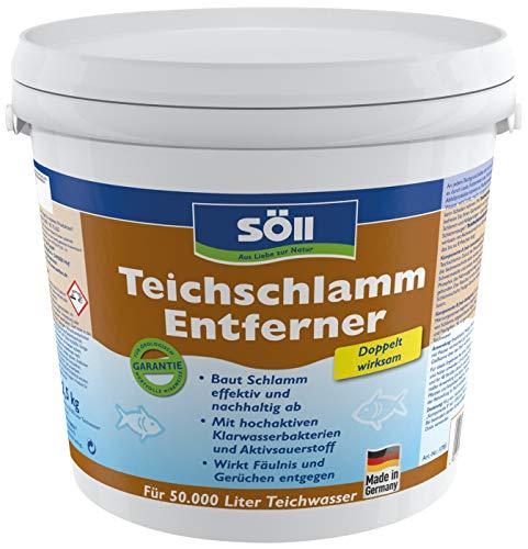 Söll 11785 TeichschlammEntferner doppelt wirksam gegen Teichschlamm 2,5 kg - biologischer Teichreiniger entfernt organischen Schlamm und Ablagerungen im Gartenteich Fischteich Schwimmteich Koiteich