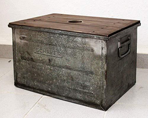 Große Vintage Metallkiste Metall Box Stapelkiste Industrie Werkzeugkiste mit Deckel Behälter