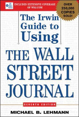 Download The Irwin Guide to Using the Wall Street Journal 0071416641