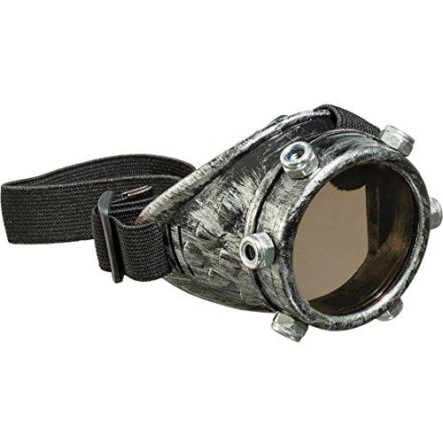 Amakando Gothic Einglas Brille Historische Fliegerbrille Viktorianische Faschingsbrille Steampunk Monokel Karnevalskostüme Accessoires Vintage EIN-Glas Sonnenbrille Retro Monokelbrille