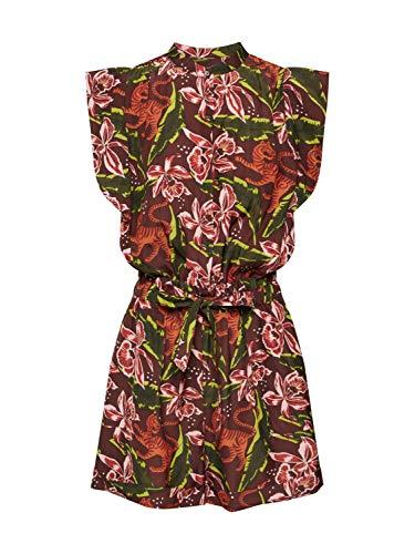 Scotch & Soda Maison Damen Playsuit mit floralem Print Jumpsuit, Mehrfarbig (Combo C 0219), Medium (Herstellergröße: M)
