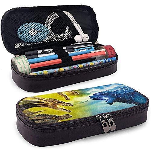 Godzilla Unisex Student 's Federmäppchen Stift Box Reißverschluss Schreibwaren Tasche Leichte Buggy Taschen für Mädchen Jungen