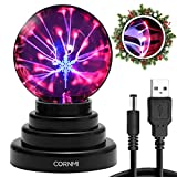 Plasma Ball - Touch Sensitive Magic USB Plasma Lamp Light - Best Birthday Gift for Astronomer, Teacher of Physics, Girl Friend Gift, Classmates and Kids Science Fun Toy Christmas Gifts