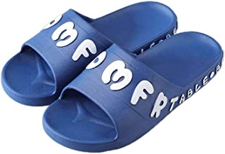 YAXY Simple Lady Woman's Man's House Indoor & Outdoor Multifunction Slippers Casual Shoes Light Weight Anti-Slip Massage Shower Bath Pool Gym Slides Flip Flop Open Toe Comfortable Soft Sandals