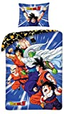 Halantex – DB110-3BL – Juego de Cama Individual Dragonball Z PROTAGONISTAS Pequeño Goku Funda...
