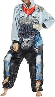 emmarcon Pigiama Animale Kigurumi Tuta Intera Costume Carnevale Halloween Cosplay, Unisex Adulto