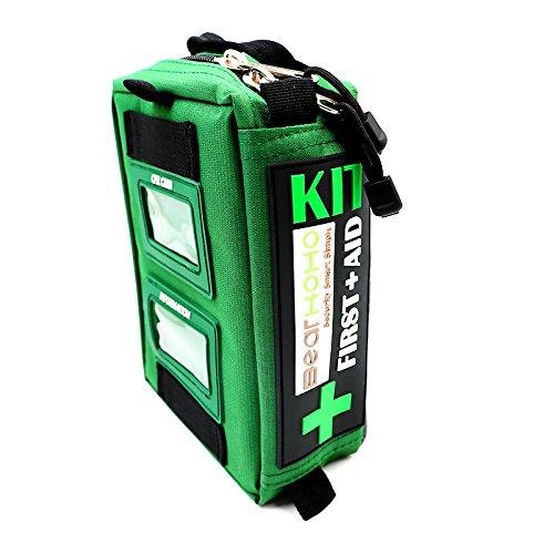 Bearhoho pratico sacchetto di primo soccorso kit di sopravvivenza di emergenza medica per casa lavoro Outdoor caravan campeggio escursionismo zaino da viaggio con Cpr kit 165-piece